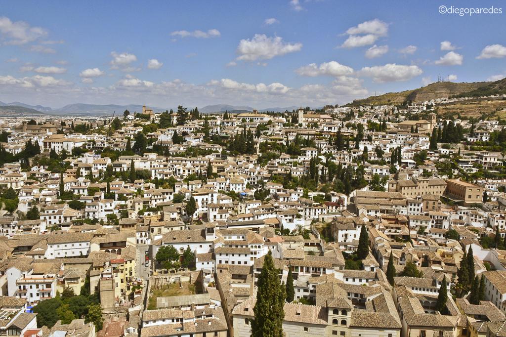 Albaycín, Granada. Desde la Alhambra